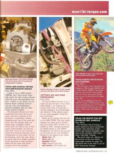 Motocross Action Magazine – FullFloater.com – Feb 2009