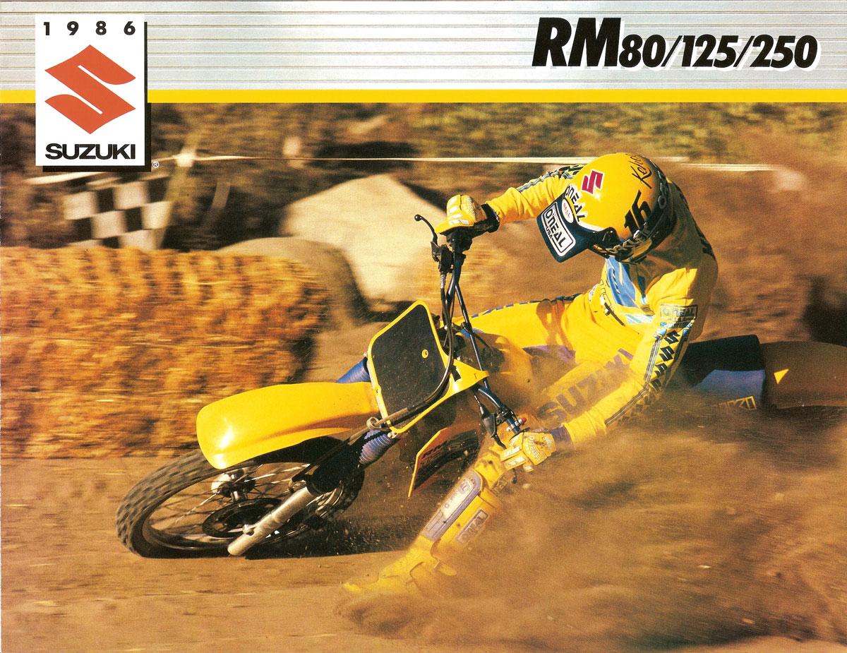 1986 Suzuki RM 80/125/250 Brochure
