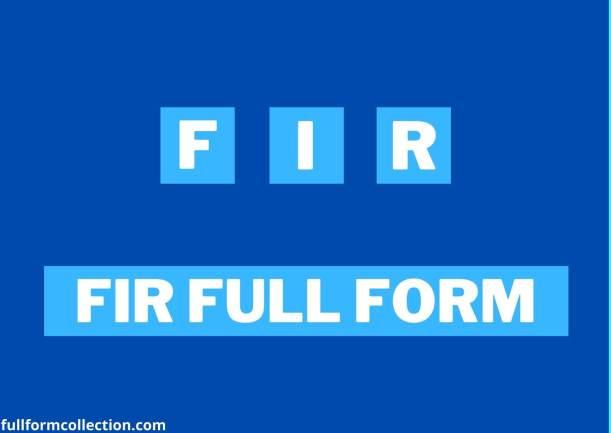 FIR Full Form
