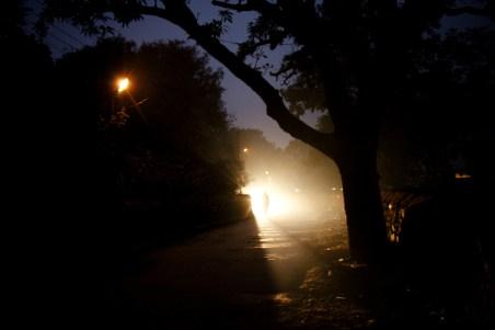 SWARG ashram at night