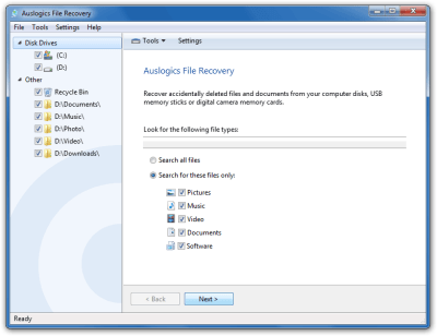 Auslogics File Recovery 9.5.0.2 Crack + Key 2021 Free Download