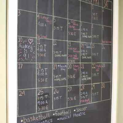 How To Organize Your Big Family With A Chalkboard Wall Calendar