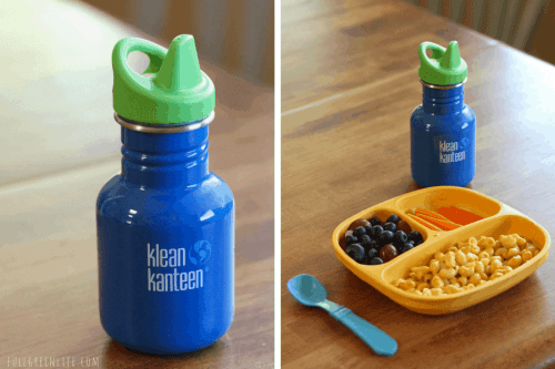 Klean Kanteen sippy cup and Replay divided plate