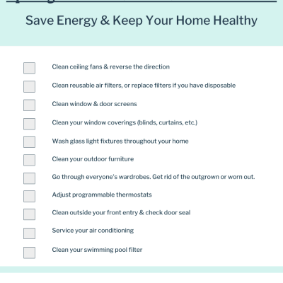 Spring Cleaning & Energy Efficiency Checklist