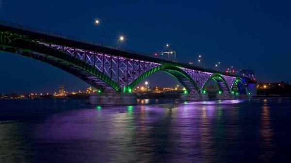 Обои Мост через озеро Эри, картинки - Обои для рабочего ...