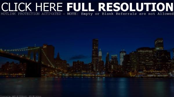 Обои Золотые огни Нью-Йорка 1920х1080 Full HD картинки на ...