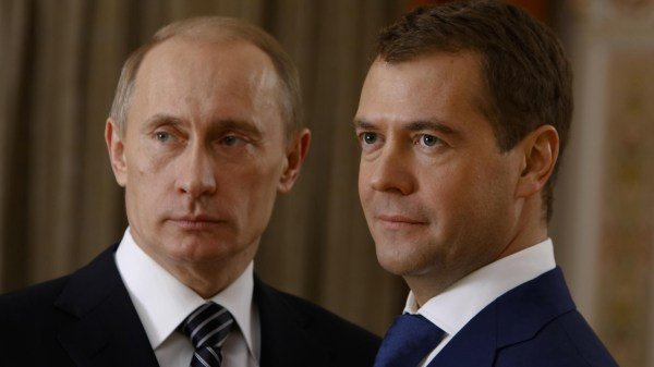 Обои Владимир Путин и Дмитрий Медведев 1920х1080 Full HD