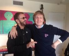 Ringo Starr, Paul McCartney and Joe Walsh in the Studio