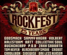 Rockfest 2017 Lineup Announced – Godsmack, Sammy Hagar, RATT, Volbeat and more