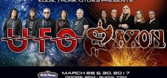 Saxon / UFO 2017 North American Tour Dates