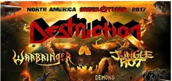 Destruction, Warbringer, Jungle Rot Announce 2017 N. America Tour, USA, Dates