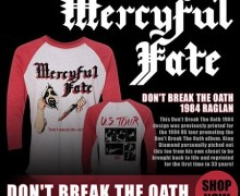 Limited Edition Mercyful Fate 'Don't Break the Oath' Reprint Tour T-shirts Available, King Diamond