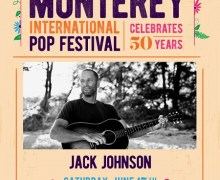 2017 Monterey International Pop Festival Lineup, Jack Johnson, Norah Jones, Gary Clark Jr.