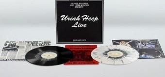 'Uriah Heep Live' Gets 2 LP 'Splatter Vinyl' Re-release