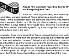 Arcade Fire Releases Statement Condemning Social Media Company 'Everything Now Corp'