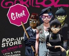 Gorillaz: G Foot Pop-Up Store Brooklyn, Directions, Info