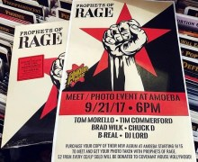 "Prophets of Rage Announce Amoeba Meet & Greet Photo Event 9/21 – Hollywood + ""Hail to the Chief"" Video"