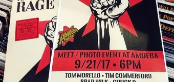 """Prophets of Rage Announce Amoeba Meet & Greet Photo Event 9/21 – Hollywood + """"Hail to the Chief"""" Video"""
