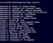 Saxon & UFO Launch 2017 North American Tour, Tickets, Info