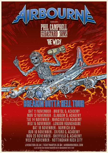 PHIL CAMPBELL and the Bastard sons-Cut Motörhead T-Shirt