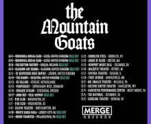 The Mountain Goats: Glasgow & Brighton Shows Are Now Sold Out