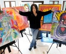 "Paul Stanley Art: ""Working multidimensionally with acrylics on 3 inch plexiglass"""
