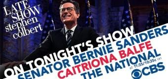 The National on Stephen Colbert Tonight