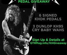 Kirk Hammett Guitar Pedal Giveaway