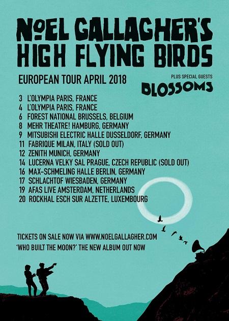 noel gallagher paris zenith 2018 Noel Gallagher Europe Tour 2018, Tickets, Dates, Paris, Milan  noel gallagher paris zenith 2018