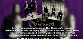 The Obsessed: 1990 Self-Titled Debut Remastered 2CD/LP/Digital, S/T
