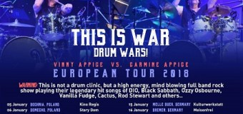 Carmine and Vinny Appice 2018 Tour/Europe/Dates/Germany/Austria/Italy/Poland/Spain