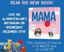 Jimmy Fallon Reading 'Everything is Mama' on Instagram – Children's Book