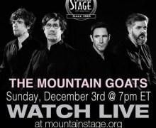 The Mountain Goats to Stream Tonight's Concert @ Mountain Stage Radio Show