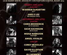 NAMM 2018: Jake E. Lee, Warren DeMartini, Andreas Kisser, Angel Vivaldi @ Jackson & Charvel Booth