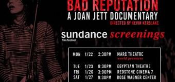 Bad Reputation/Joan Jett Documentary/Sundance Schedule/Screenings/Park City & Salt Lake City
