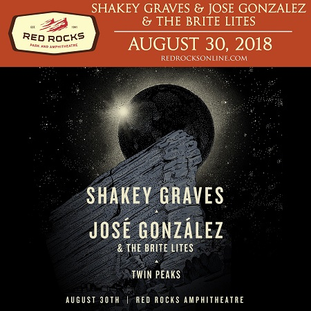 Shakey Graves and Jose Gonzalez @ Red Rocks, Tickets + 'Can't Wake Up'