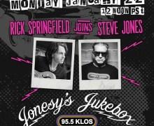 Rick Springfield on Jonesy's Jukebox w/ Steve Jones