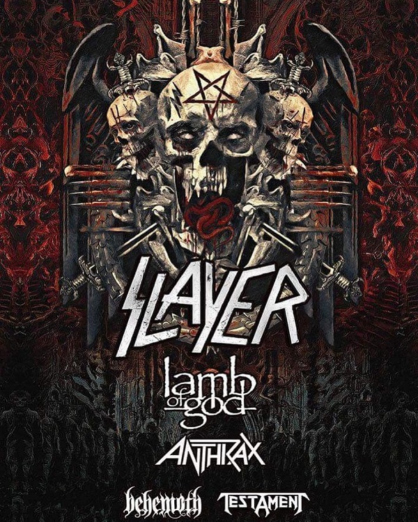 Slayer, Lamb of God, Anthrax, Behemoth, Testament Tour 2018