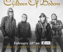 Children of Bodom Facebook Live Session Announced