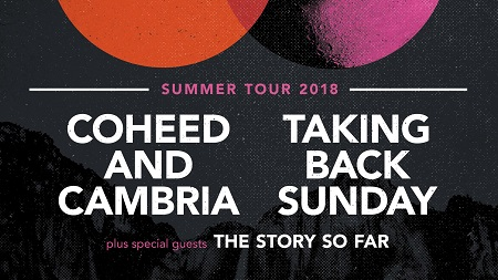 Coheed and Cambria + Taking Back Sunday 2018 Tour Announced - w/ The Story So Far