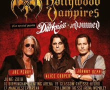 Hollywood Vampires Announce 1st UK Tour Dates EVER, 2018, Ft. Johnny Depp, Joe Perry, Alice Cooper
