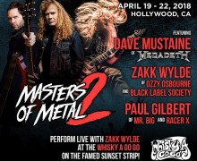 MASTERS OF METAL II w/ Zakk Wylde, Dave Mustaine, Paul Gilbert $500 Off Opportunity
