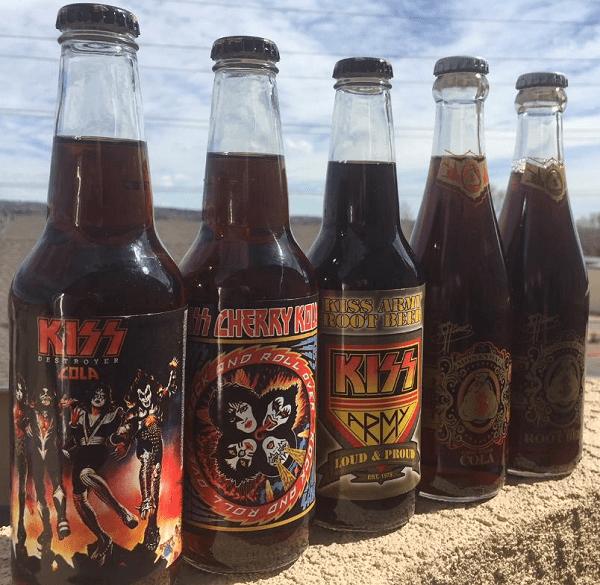 Gene Simmons Cola/Root Beer & KISS Cola/Kola Set - MoneyBag/Rocket Fizz