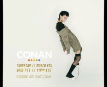 "Morgan Saint on Conan 2018 ""Just Friends"" ""Glass House"" Video Premiere – Listen!"