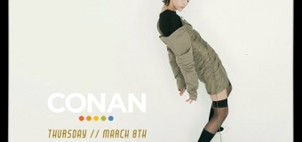 "Morgan Saint on Conan 2018 ""Just Friends"" ""Glass House"" Video Premiere – Listen!"