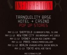 Arctic Monkeys Pop-Up Store – Sheffield, NY, Sydney, Paris, Berlin, Tokyo, New York – Dates, Times