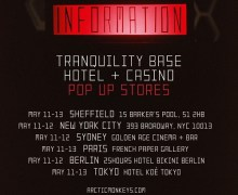 Arctic Monkeys Pop-Up Store – Sheffield, NY, Sydney, Paris, Berlin, Tokyo, New York – Dates, Times