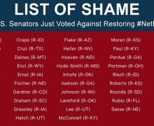 Senate Votes to Save Net Neutrality