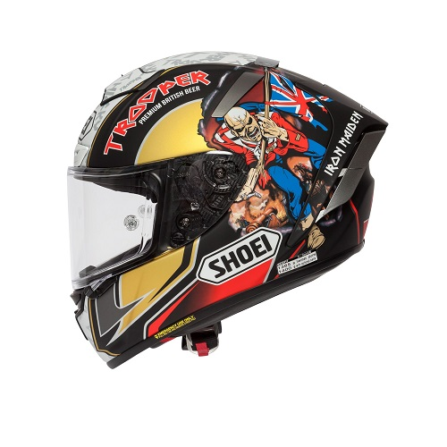 Iron Maiden: Racing Helmet - Limited Edition - Peter Hickman Announcement - Trooper Shoei X-Spirit III