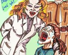 """Jim Carrey Painting: Melania Trump Jacket """"I really don't care. Do u?"""""""